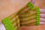 Jenjay's Stranded-Color & Pin-Striped Mitts