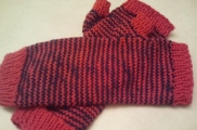 Snohomish Carol's Pin-Striped Mitts