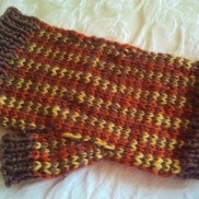 SnohomishCarol's Color-Stranded & Pin-Striped Mitts