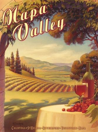 vintage Napa Valley travel poster