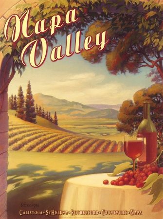 vintage Napa Valley travel poster