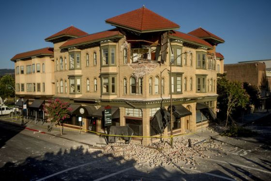 Alexander building after quake