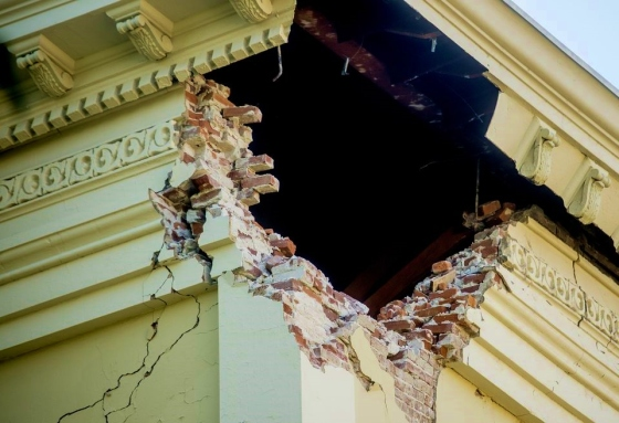 historic courthouse of Napa after earthquake