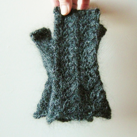 alpaca & silk & wool mitts for Natalie