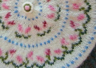 detail of duplicate stitches