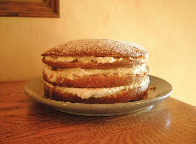 apricot mascarpone sponge cake