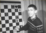 1957 Bobby Fischer going over the Sherwin game -2
