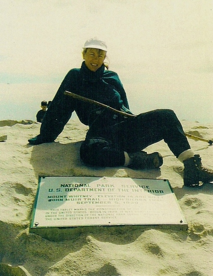 On Top of Mt Whitney, John Muir High Sierra, Aug. 2001