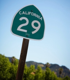California Highway 29 sign