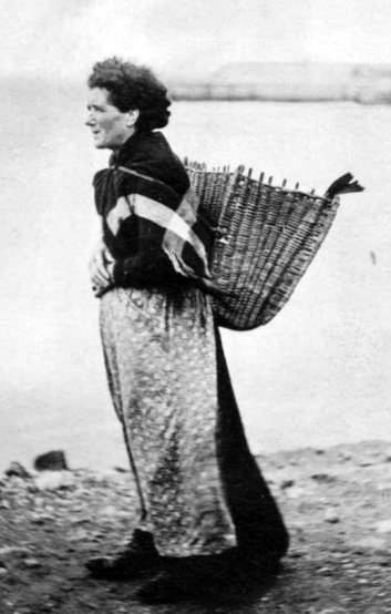 Old Photograph Scottish Fishwife St Andrews Scotland