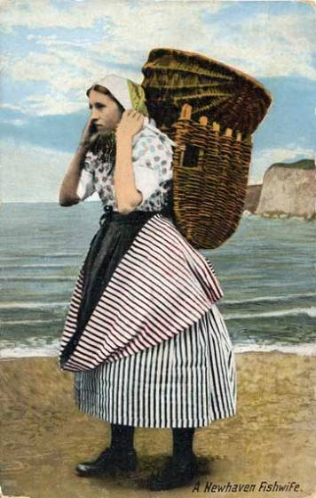 old postcard NewHavenFishwife