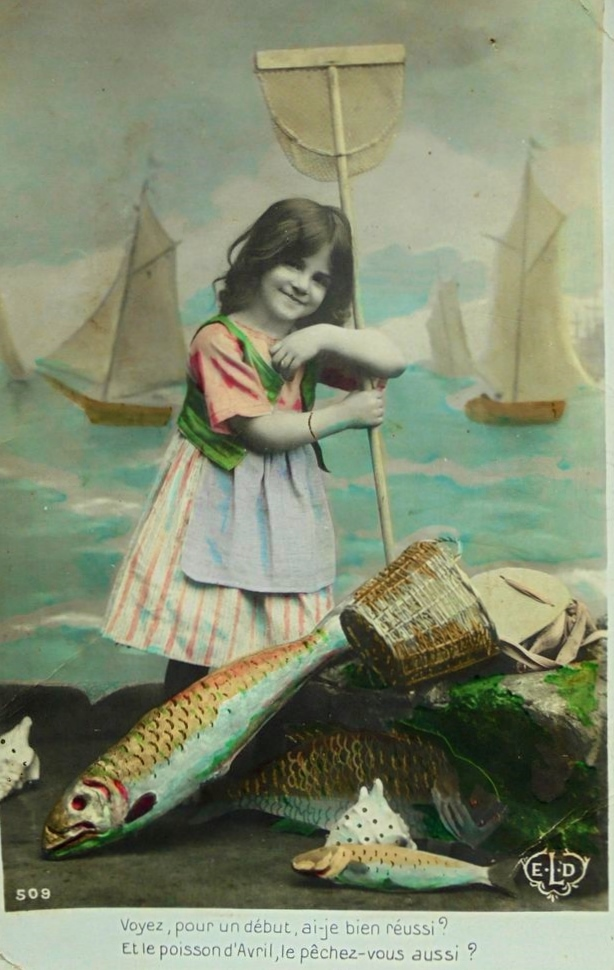 poisson d' avril post cards 6