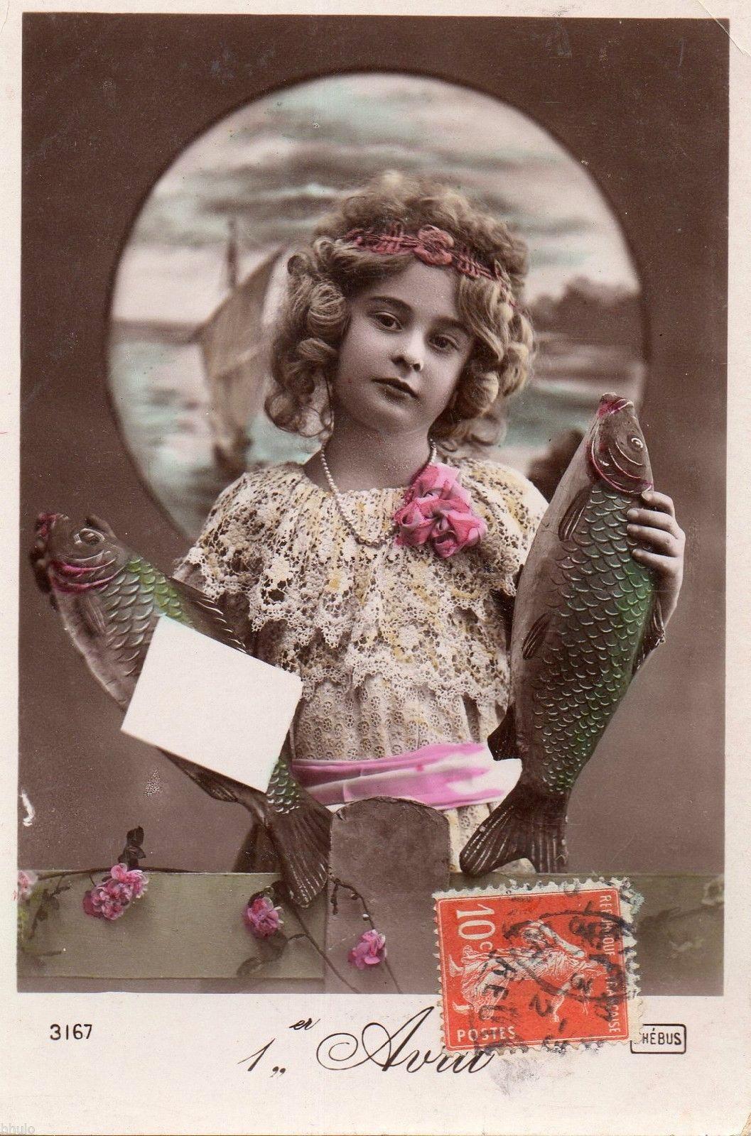 poisson d' avril post cards 7