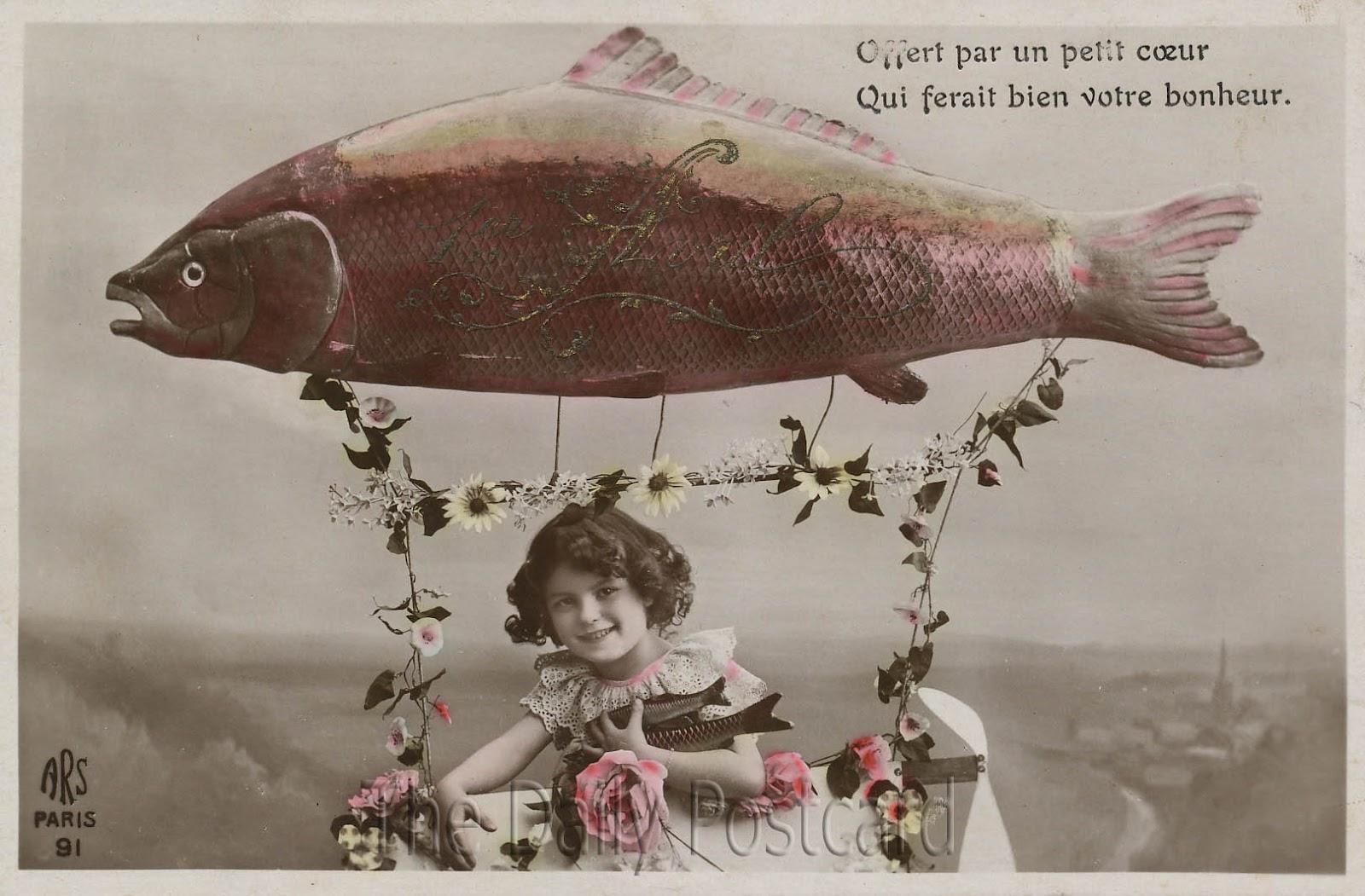 poisson d' avril post cards 8