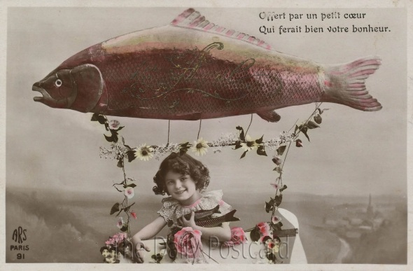 poisson d' avril post cards 8