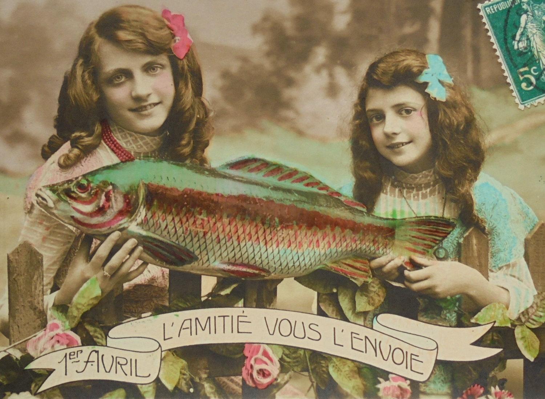 poisson poisson d' avril post cards 11