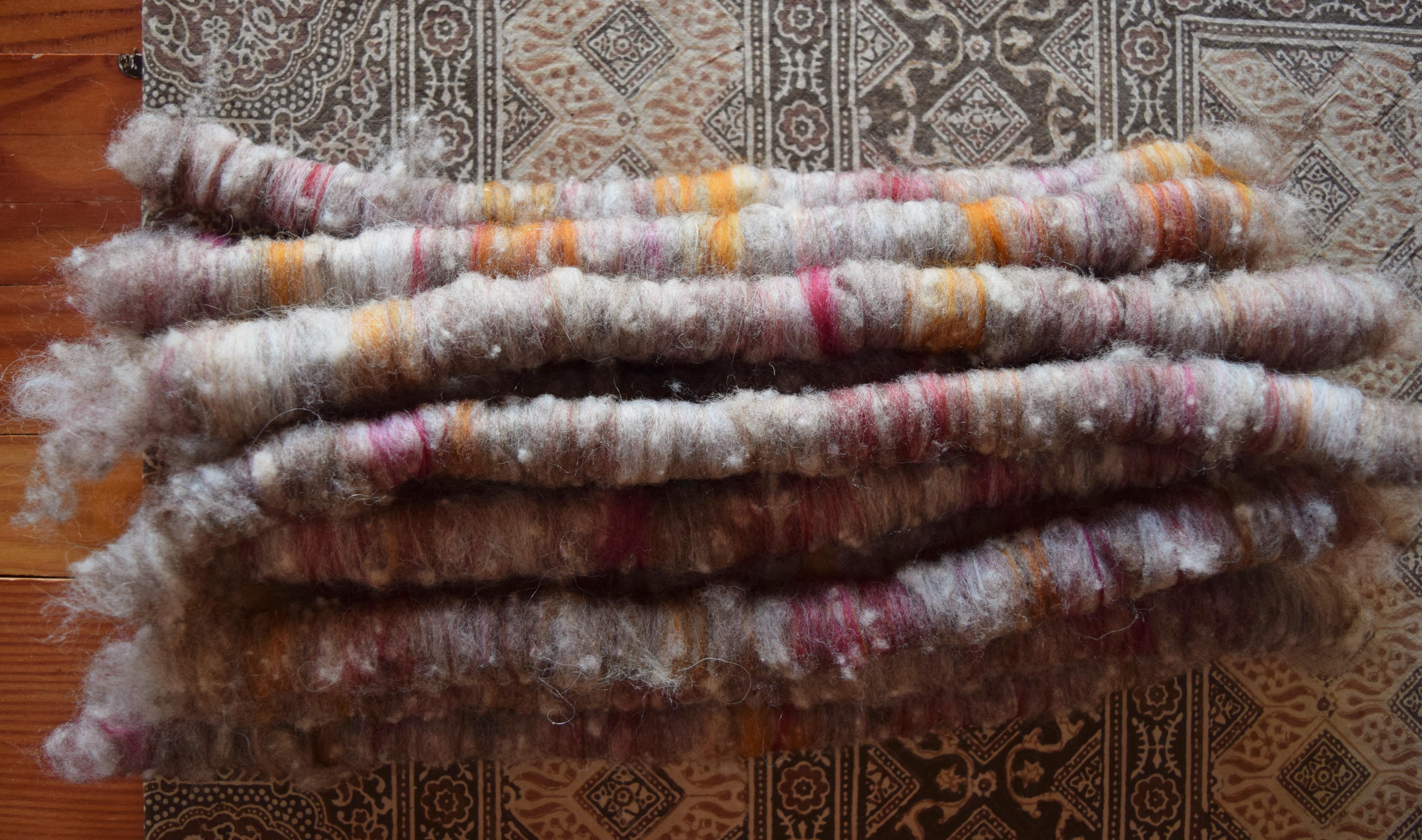 jenjoycedesign© tweed rolags
