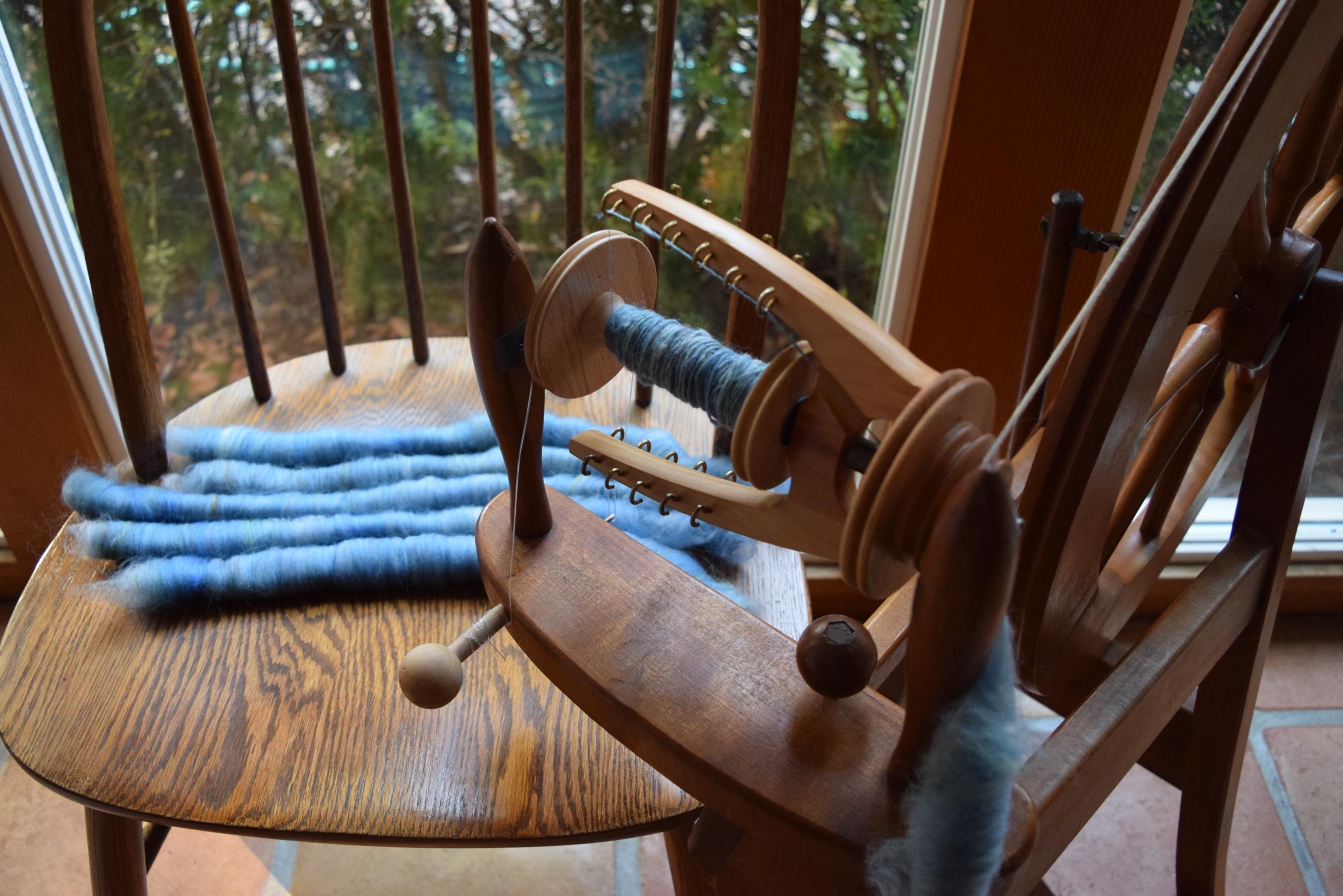 jenjoycedesign© spinning Wild Flax
