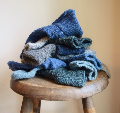 jenjoycedesign© pile of knitting