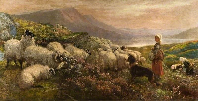 Emmerson, Henry Hetherington, 1831-1895; Wool Gathering
