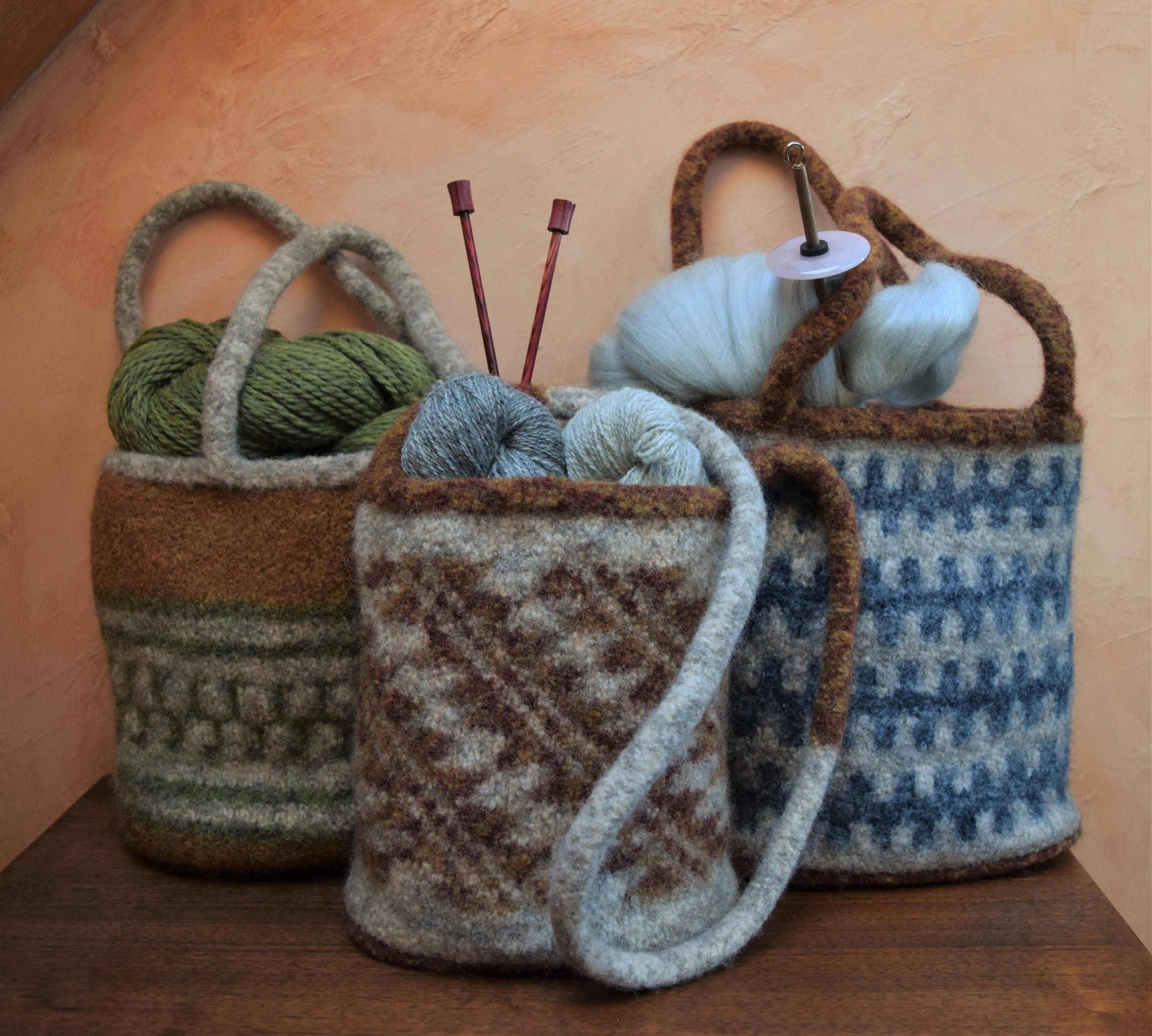 jenjoycedesign© Maiya' kma Felted Wool Bags