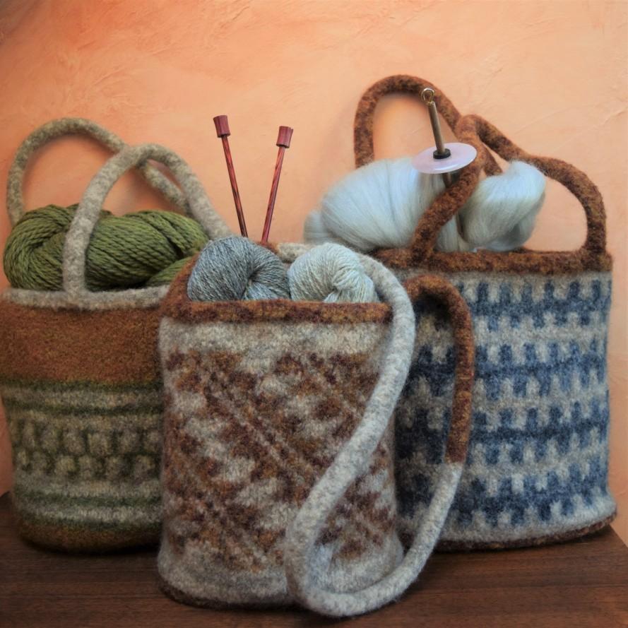 jenjoycedesign© Maiya' kmas felted wool bags